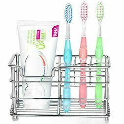Stainless Steel Bathroom Toothbrush Holder Toothpaste Holder