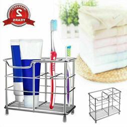 Stainless Steel Toothpaste Razor Dispenser Toothbrush Holder