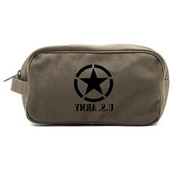 U.S. Army Star Military Canvas Shower Kit Travel Toiletry Ba