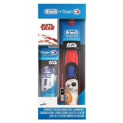 Oral-B Star Wars Powered Toothbrush Kids + Crest toothpaste.