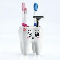 Tooth Shape Toothbrush Holder Cute Cartoon Storage Box Bathr