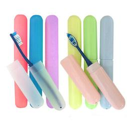 4 Pack Toothbrush Case Holders Travel Cover New Tube Plastic