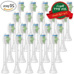 20x Toothbrush Heads For PHILIPS Sonicare FlexCare Easy Diam