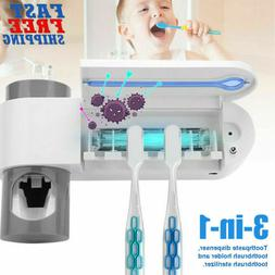 Toothbrush Holder & UV Light Sterilizer Cleaner & Automatic