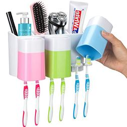 iHave Toothbrush Holder Wall Mount 3 Cups Electric Toothbrus