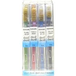 Swissco Toothbrush  Soft Stripe Handle Nat. Bristle