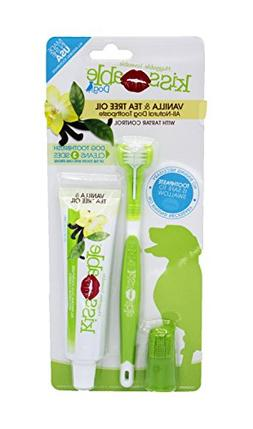 KISSABLE Dog Dental Kit Contains All-Natural Toothpaste + Gu