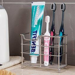 Toothbrush Toothpaste Holder Stainless Steel Stand Bathroom