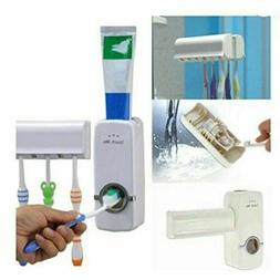 Toothpaste Dispenser +5 Toothbrush Holder Auto Automatic Set