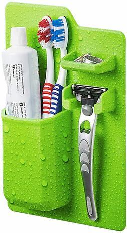 Toothpaste Holder Auto Dispenser Toothbrush Bathroom Wall St