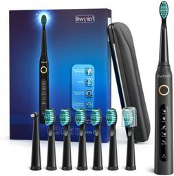 Fairywill Travel Electric Toothbrush Rechargeable with Trave