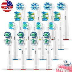 US 16Pcs Replacement Tooth Brush Heads Set For Braun Oral B