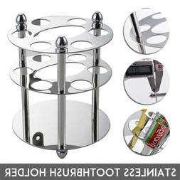 US Stainless Steel Bathroom Toothbrush Toothpaste Cup Holder