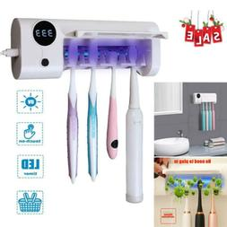 LED Rechargeable 4 bulbs Toothbrush Holder Timing USB Home B