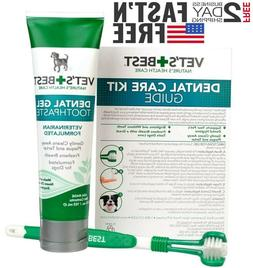 Vet's Best Enzymatic Dog Toothpaste | Dental Care Gel & tr