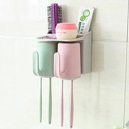 HCP Wall toothbrush holder and suction cup toothbrush rack B