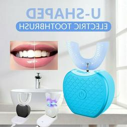 Wireless Automatic 360°Electric Sonic Toothbrush Teeth Whit