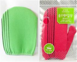 x 2 kind Korean Bath Towel Body Scrubber exfoliating Glove t