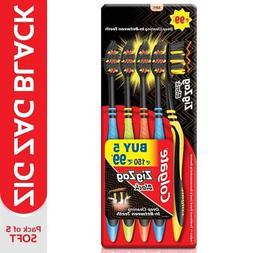 Colgate ZigZag Soft Black Tooth Brush Pack of 5